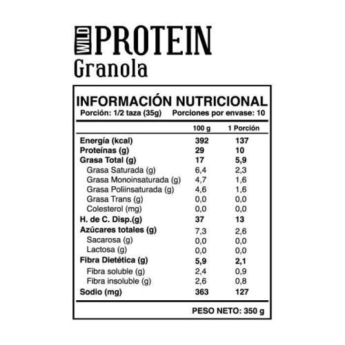 Granola Wild Protein Crunchy Mix 350gr
